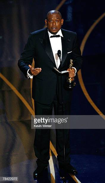 TELECAST*** Actor Forest Whitaker accepts the Best Performance by an Actor in a Leading Role award for The Lask King of Scotland during the 79th...