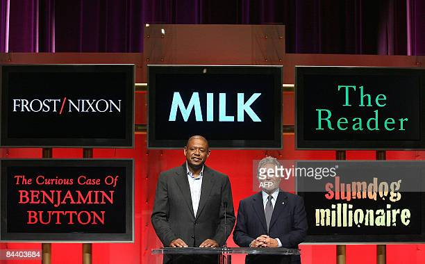 Actor Forest Whitaker and Academy of Motion Picture Arts and Sciences President Sid Ganis announce the nominations forhe Best Motion Picture of the...