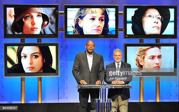 Actor Forest Whitaker and Academy of Motion Picture Arts and Sciences President Sid Ganis announce the nominations for the Best Performance by an...