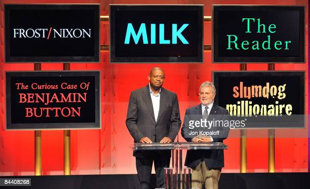 Actor Forest Whitaker and Academy of Motion Picture Arts and Sciences President Sid Ganis announce the nominations for Best Motion Picture of the...
