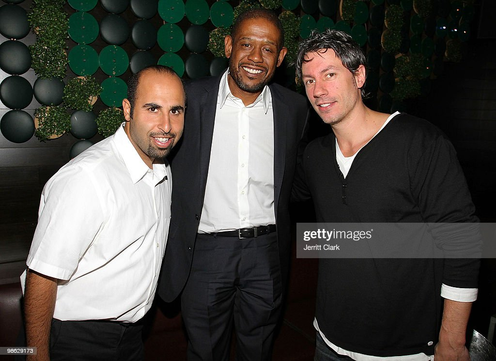Actor Forest Whitaker (C) and Greenhouse owners Jon B and Barry Mullineaux attend The Official After Party For Earth Day New York at Greenhouse on April 22, 2010 in New York City.