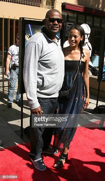 Actor Forest Whitaker and Keisha Whitaker arrive at the Premiere Of Warner Bros Star Wars The Clone Wars on August 10 2008 at the Grauman's Egyptian...