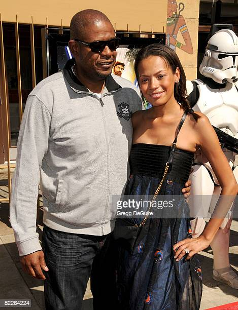 Actor Forest Whitaker and wife Keisha Whitaker arrive at the US Premiere Of Star Wars The Clone Wars at the Egyptian Theatre on August 10 2008 in...