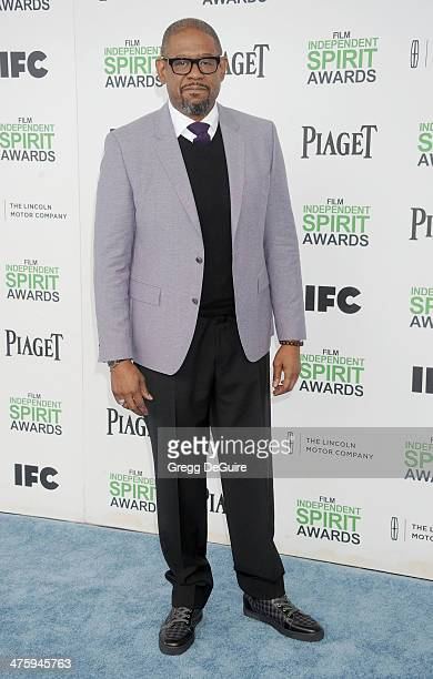 Actor Forest Whitaker arrives at the 2014 Film Independent Spirit Awards on March 1 2014 in Santa Monica California