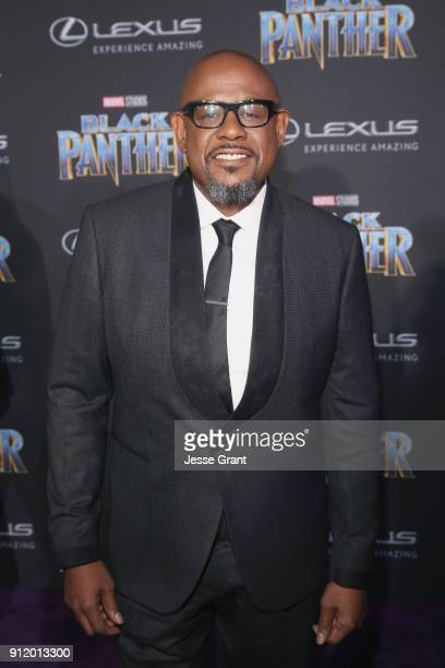 Actor Forest Whitaker at the Los Angeles World Premiere of Marvel Studios' BLACK PANTHER at Dolby Theatre on January 29 2018 in Hollywood California