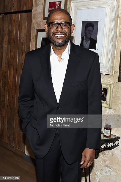Actor Forest Whitaker attends as Harvey Weinstein hosts a celebration for Forest Whitaker in Eugene O'Neill's 'Hughie' at Elyx House NYC on February...