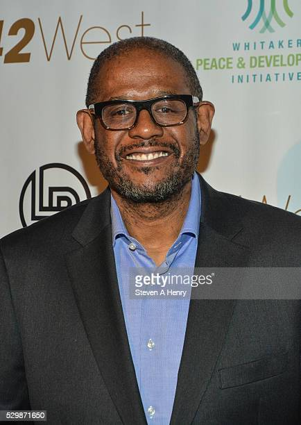 Actor Forest Whitaker attends the 2016 Performers4Peace Benefit Concert at 42West on May 9 2016 in New York City