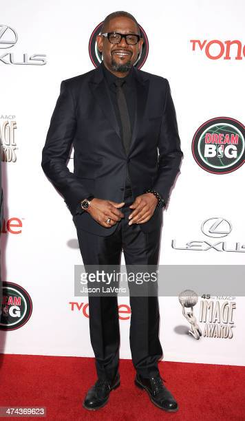 Actor Forest Whitaker attends the 45th NAACP Image Awards at Pasadena Civic Auditorium on February 22 2014 in Pasadena California