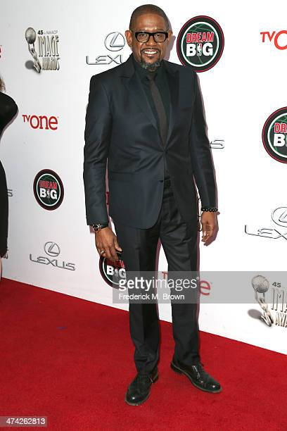 Actor Forest Whitaker attends the 45th NAACP Image Awards presented by TV One at Pasadena Civic Auditorium on February 22 2014 in Pasadena California