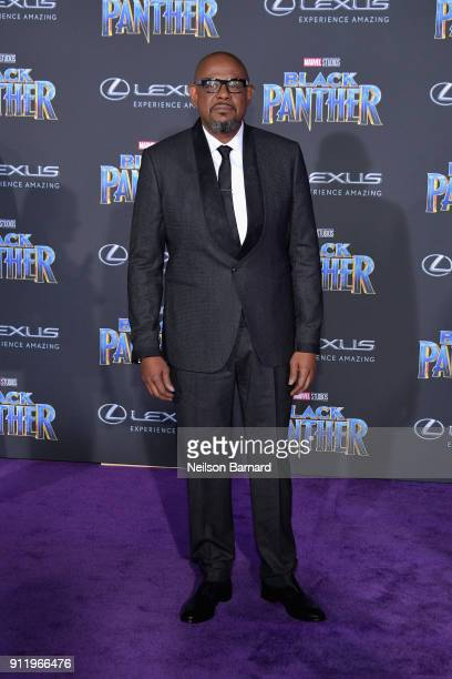 Actor Forest Whitaker attends the premiere of Disney and Marvel's 'Black Panther' at Dolby Theatre on January 29 2018 in Hollywood California