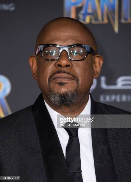 Actor Forest Whitaker attends the world premiere of Marvel Studios Black Panther, on January 29 in Hollywood, California. / AFP PHOTO / VALERIE MACON