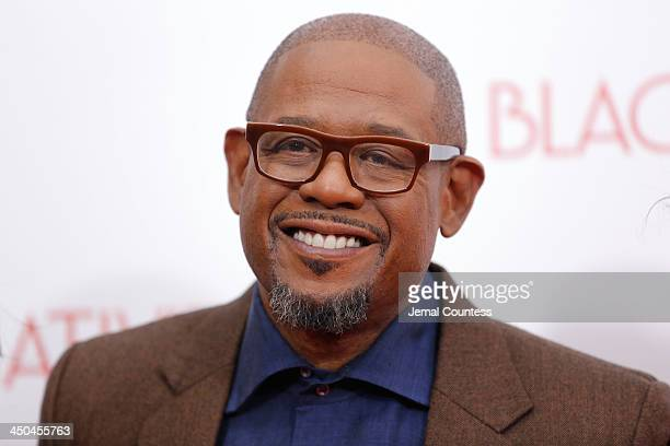 Actor Forest Whitaker attends theBlack Nativity premiere at The Apollo Theater on November 18 2013 in New York City