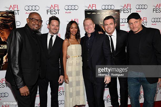 Actor Forest Whitaker director Scott Cooper actress Zoe Saldana producer Ryan Kavanaugh Relativity Media President Tucker Tooley and actor Woody...
