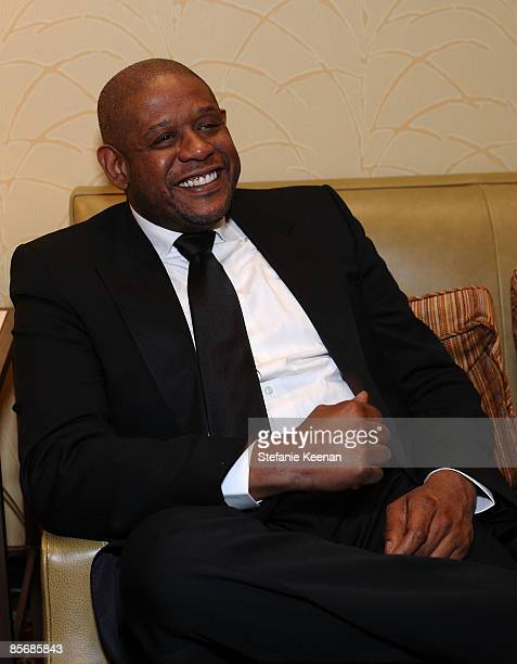 Actor Forest Whitaker sings during Muhammad Ali's Celebrity Fight Night XV held at the JW Marriott Desert Ridge Resort Spa on March 28 2009 in...
