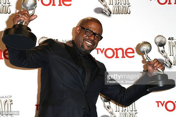 Actor Forest Whitaker winner of the Outstanding Actor in a Motion Picture award for 'Lee Daniels' The Butler' and the NAACP Chairman's Award poses in...