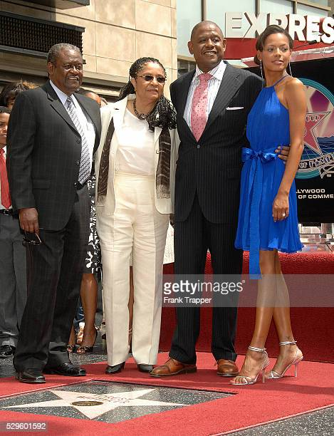 Actor Forest Whitaker with his parents and his wife Keisha at the ceremony honoring him on the Hollywood Walk of Fame