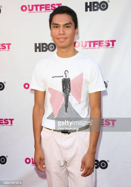 Actor Forrest Goodluck attends the 2018 Outfest Los Angeles LGBT Film Festival closing night Gala of 'The Miseducation Of Cameron Post' at The...