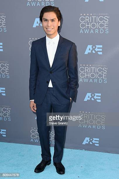 Actor Forrest Goodluck attends the 21st Annual Critics' Choice Awards at Barker Hangar on January 17 2016 in Santa Monica California