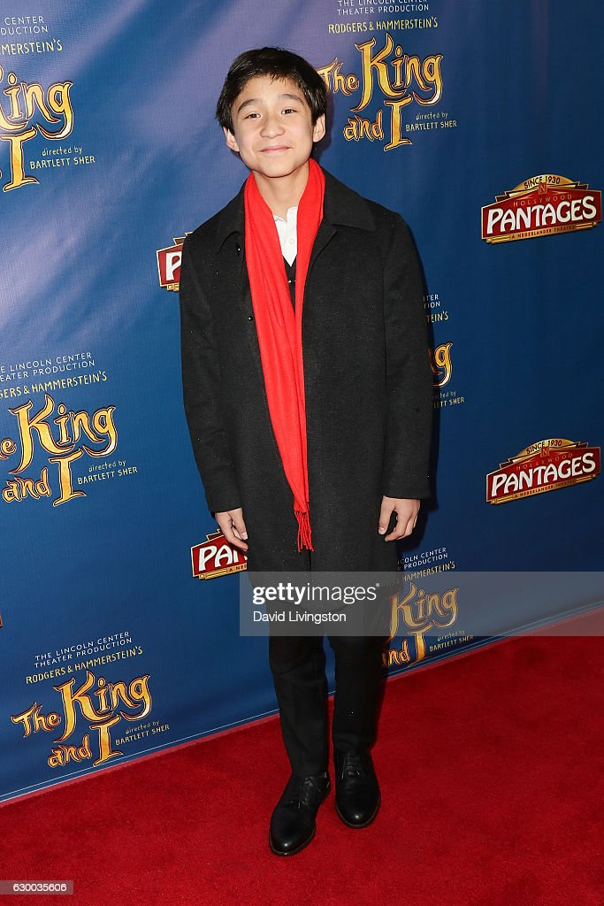 Actor Forrest Wheeler arrives at the Opening Night of The Lincoln Center Theater's Production Of Rodgers and Hammerstein's 'The King and I' at the Pantages Theatre on December 15, 2016 in Hollywood, California.