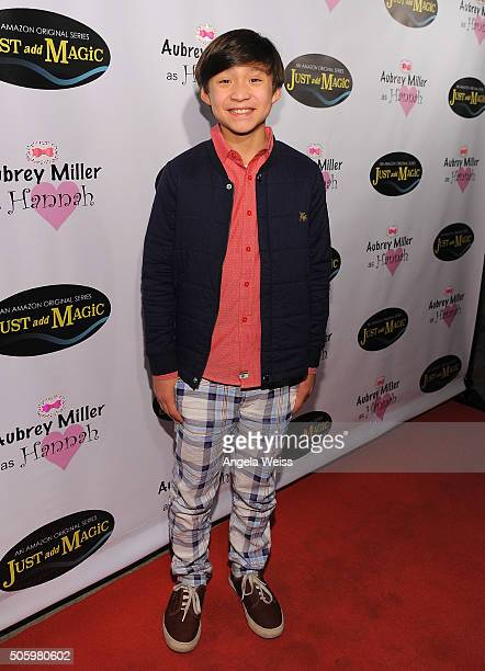 Actor Forrest Wheeler arrives to a private screening of Amazon's Just Add Magic at the Chaplin Theater at Raleigh Studios on January 20 2016 in...