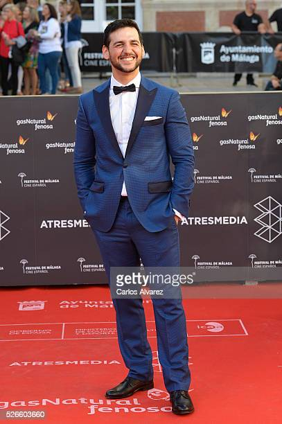 Actor Fran Perea attends Nuestros Amantes premiere at the Cervantes Teather during the 19th Malaga Film Festival on April 30 2016 in Malaga Spain