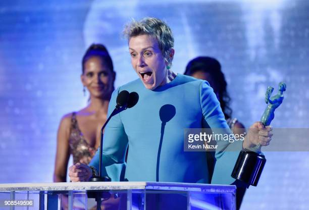 Actor Frances McDormand accepts the award for Outstanding Performance by a Female Actor in a Leading Role onstage during the 24th Annual Screen...