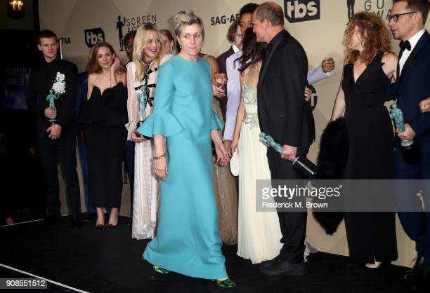 Actor Frances McDormand winner of Outstanding Performance by a Female Actor in a Leading Role and cast of 'Three Billboards Outside Ebbing Missouri'...
