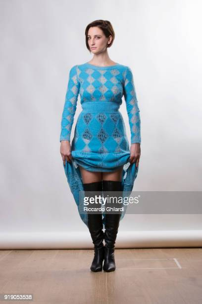 Actor Francesca Inaudi is photographed on December 2, 2017 in Rome, Italy..