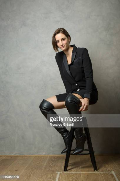 Actor Francesca Inaudi is photographed on December 2 2017 in Rome Italy
