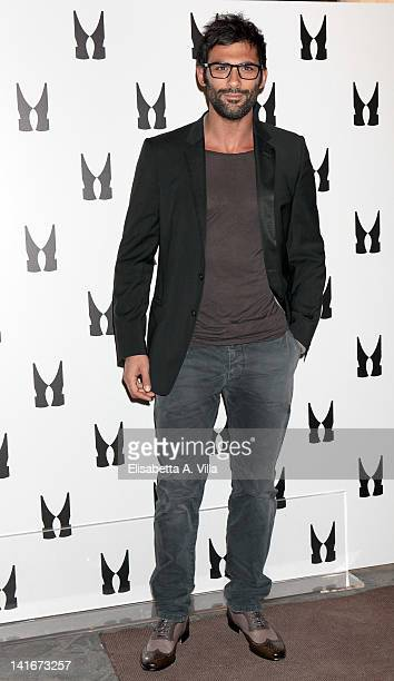 Actor Francesco Arca attends the Private Art Performance By Jay C Lohmann at Moreschi boutique on March 21 2012 in Rome Italy