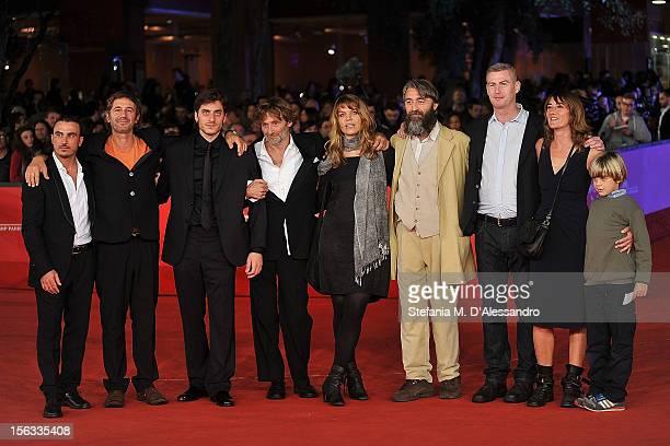 Actor Francesco di Leva, director Corrado Sassi and actors Luca Marinelli, Andrea Vergoni, guest, Salvatore Sansone and William Sinclair attend the...