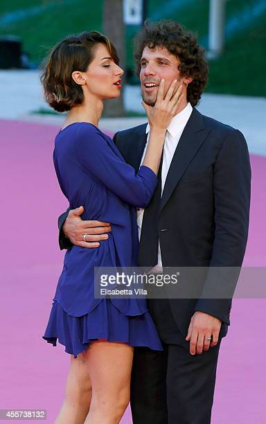 Actor Francesco Montanari and Andrea Delogu attend Roma Fiction Fest 2014 Closing Ceremony Pink Carpet at Auditorium Parco Della Musica on September...