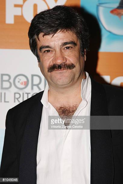Actor Francesco Pannofino attends the 'Boris 2' Party Launch Organized by Fox TV on May 09 2008 in Milan Italy