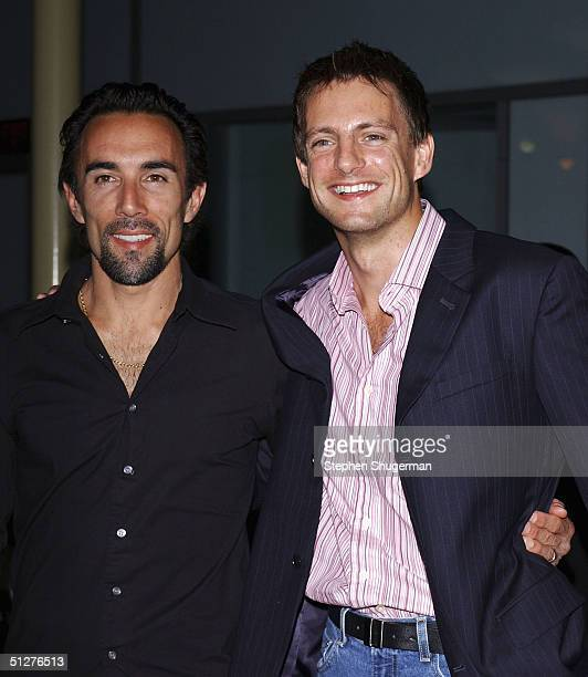 Actor Francesco Quinn and actor Nick Irons attend the premiere of VLAD at the Arclight Theater on September 8 2004 in Hollywood California