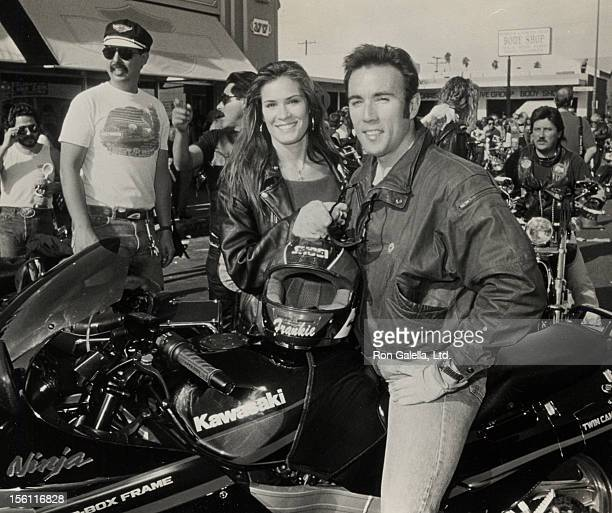 Actor Francesco Quinn and girlfriend attend the Love Ride 7 Seventh Annual Motocycle Rider's Fundraiser for the Muscular Dystrophy Association on...