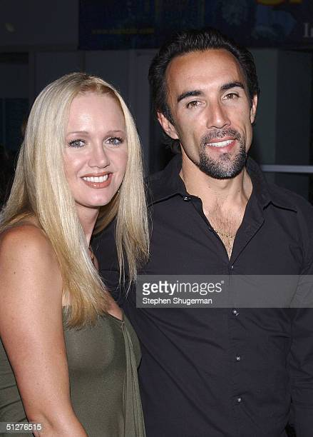 Actor Francesco Quinn and his wife Julie attend the premiere of VLAD at the Arclight Theater on September 8 2004 in Hollywood California