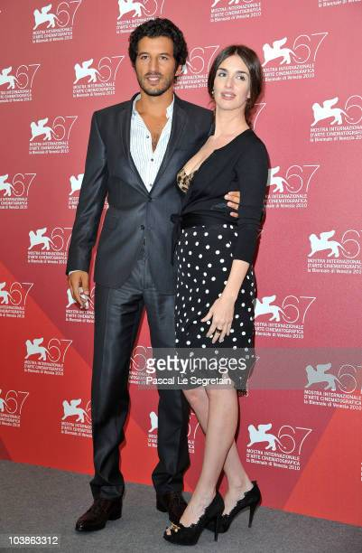 Actor Francesco Sciana and actress Paz Vega attends the 67th Venice Film Festival on September 6 2010 in Venice Italy