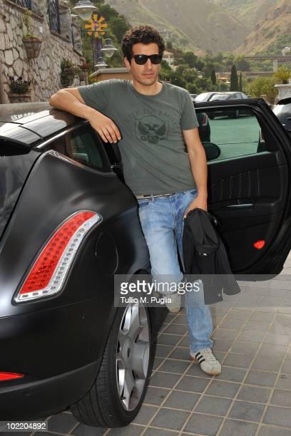 Actor Francesco Scianna arrives at the Taormina Film Fest 2010 on June 18 2010 in Taormina Italy