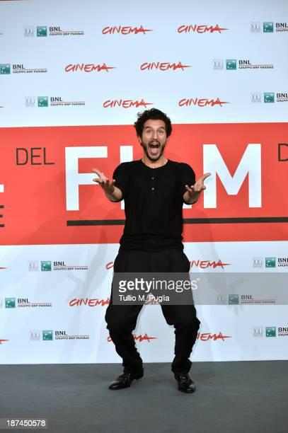 Actor Francesco Scianna attends the 'Come Il Vento Photocall' Photocall during the 8th Rome Film Festival at the Auditorium Parco Della Musica on...