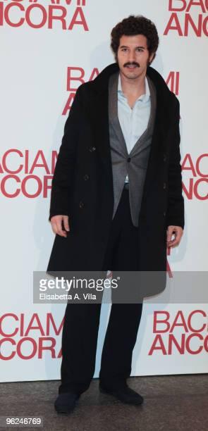 Actor Francesco Scianna attends the premiere of 'Baciami Ancora' at Auditorium Conciliazione on January 28 2010 in Rome Italy