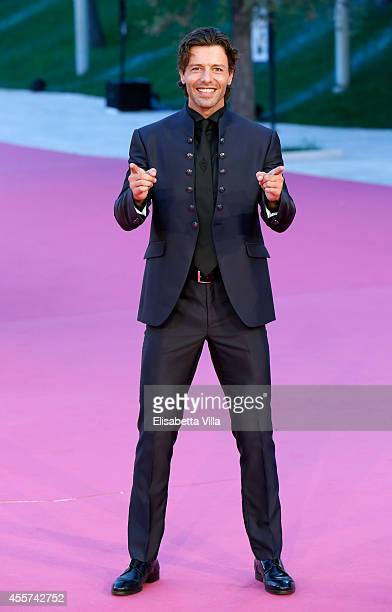 Actor Francesco Testi attends 'Furore' premiere during the Roma Fiction Fest 2014 Closing Ceremony Pink Carpet at Auditorium Parco Della Musica on...