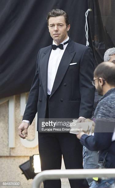 Actor Francesco Testi is seen during the set filming of 'Galerias Velvet' on April 14 2016 in Madrid Spain
