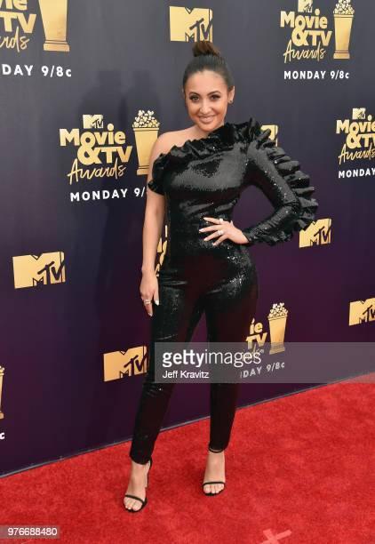 Actor Francia Raisa attends the 2018 MTV Movie And TV Awards at Barker Hangar on June 16 2018 in Santa Monica California
