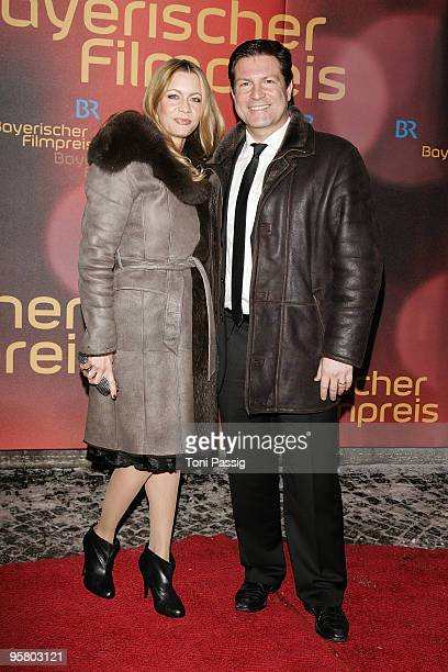 Actor Francis FultonSmith and wife Verena Klein attend the Bavarian Movie Award at Prinzregententheater on January 15 2010 in Munich Germany