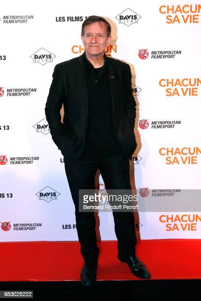 Actor Francis Huster attends the 'Chacun sa vie' Paris Premiere at Cinema UGC Normandie on March 13 2017 in Paris France