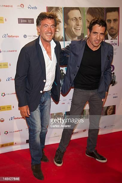 Actor Francis Lorenzo and Daniel Ecija attend En Fuera De Juego premiere at Callao cinema on May 29 2012 in Madrid Spain