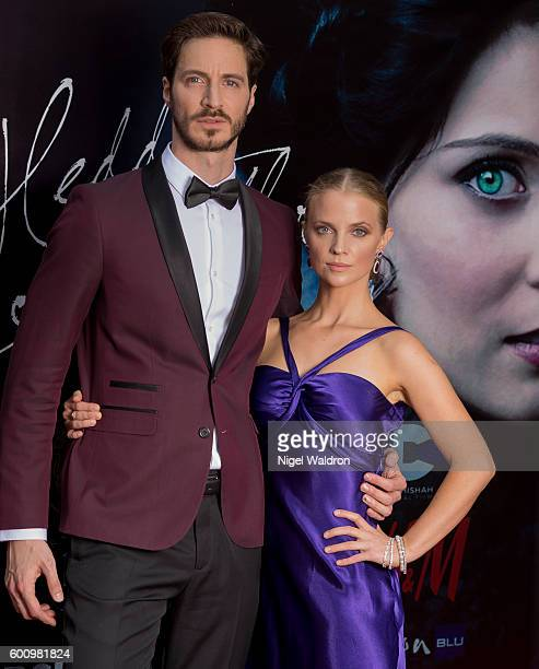Actor Francisco Ortiz Samantha Hunt attend the Norwegian premiere of Hedda Gabler held at the Vika Cinema on September 08 2016 in Oslo Norway