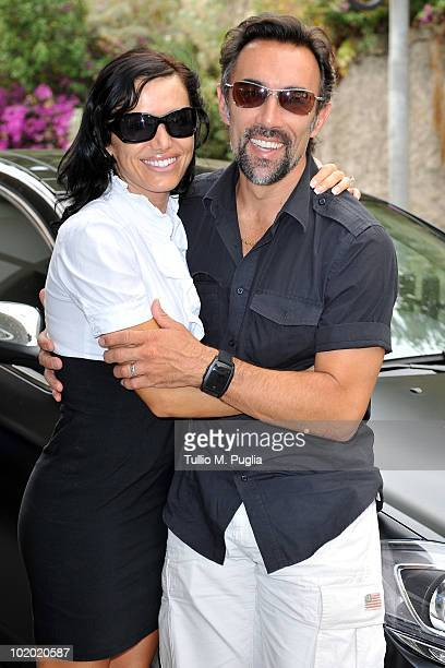 Actor Francisco Quinn and his wife Valentina Quinn arrive at the Taormina Film Fest on June 12 2010 in Taormina Italy