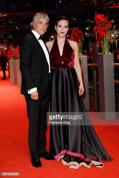 Actor Francisco Reyes and actress Daniela Vega attend the 'A Fantastic Woman' premiere during the 67th Berlinale International Film Festival Berlin...