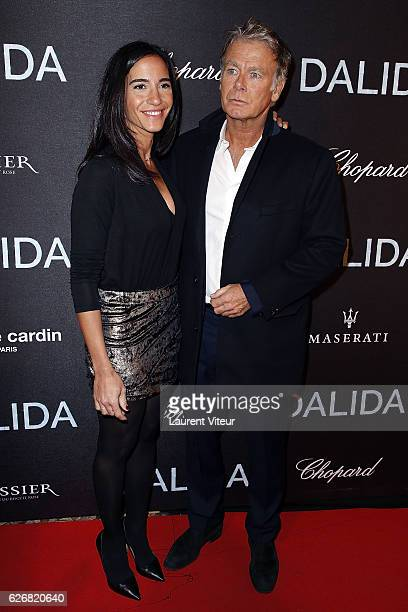 Actor Franck Dubosc and his wife Daniele attend 'Dalida' Paris Premiere at L'Olympia on November 30 2016 in Paris France